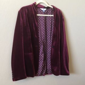 EUC Old Navy tall velvet blazer
